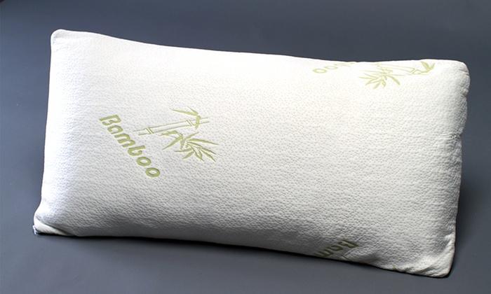 Botanical Comfort Bamboo Covered Memory Foam Pillow White Size King Check Back Soon Blinq