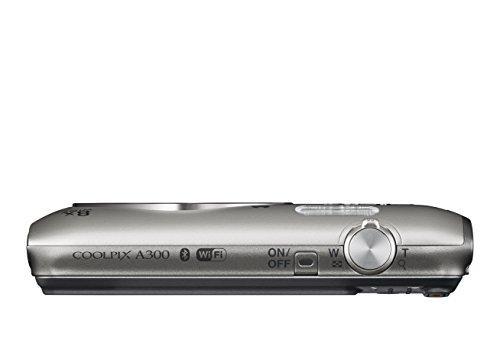 Nikon Coolpix A300 20.1MP Digital Camera 8x Optical Zoom - Silver (26519)