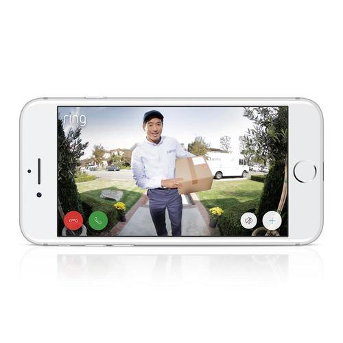 Ring Smart Video Doorbell 2 Built In Wifi Security Camera - White