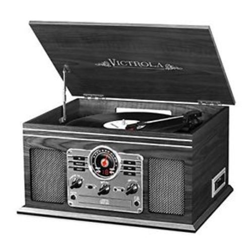 Victrola Classic 6-in-1 Bluetooth Turntable Audio system - Graphite Innovative Technology Electronics (VTA-200B GH) photo