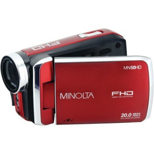 Minolta 20MP Digital Camera 8x Optical Zoom - Red (MN50HD-R)