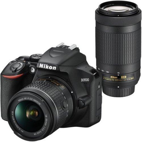 Nikon D3500 DX DSLR Two Lens Kit with 18-55mm - Black (1588)