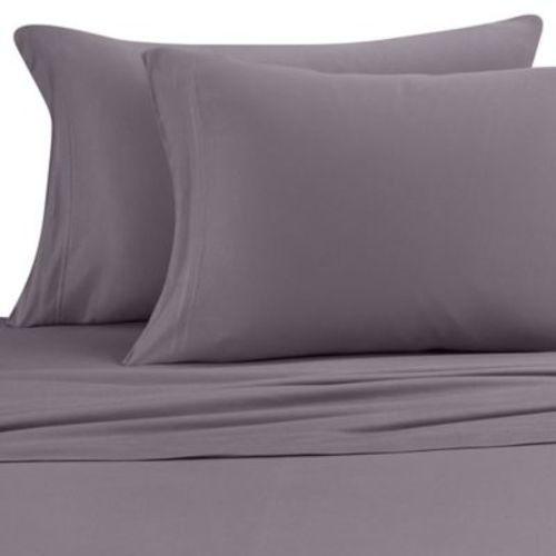Pure Beech Jersey Knit Modal Sheet Set - Charcoal - Size:King