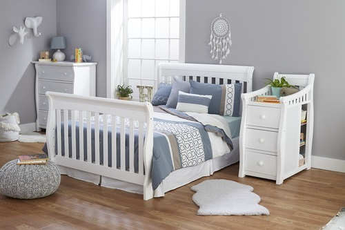 Sorelle Princeton Solid Elite 4-In-1 Convertable Crib and ...
