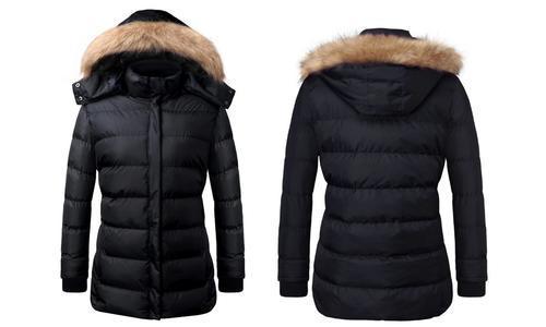 U2Wear Women's Puffer Coat - Black - Size: Medium