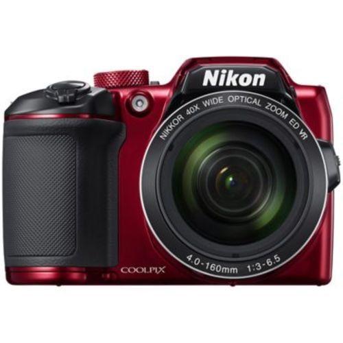Nikon Coolpix B500 16MP Full HD 40x Zoom Wi-Fi Digital Camera -Red (26508)