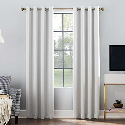 "Sun Zero 52""""x63"""" Grommet Top Window Curtain Panel"
