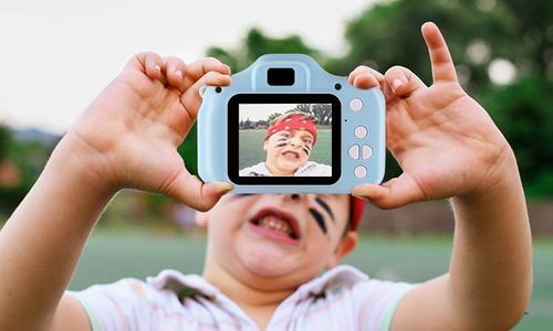 Imountek Kid's 32GB Digital Camera/Camcorder - Blue