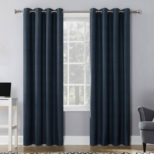 Sun Zero Duran Blackout Grommet Curtain Panel
