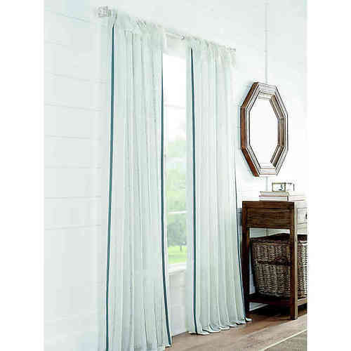 "Cambria Fontaine 84"" Tie Top Light Window Curtain Panel"